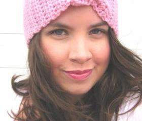 Turban Headband Knotted in Pink
